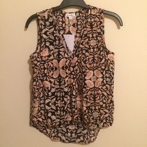 NWT love life floral tank